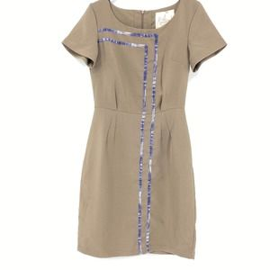 Modcloth Myrtlewood Retro Brown Sheath Dress
